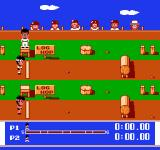 Super Team Games NES Get ready to run the log hop!
