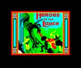 Heroes of the Lance ZX Spectrum Loading screen
