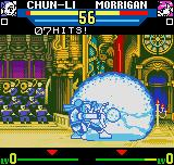 "SNK vs. Capcom: The Match of the Millennium Neo Geo Pocket Color Morrigan was ""caught"" by Chun-Li's Kikou Shou: now our nice succubus are in danger! :-O"