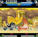 SNK vs. Capcom: The Match of the Millennium Neo Geo Pocket Color Athena Asamiya does her devastator Flame Sword: the poor Mai was obliterated then... ;-(