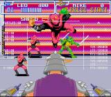 Teenage Mutant Ninja Turtles: Turtles in Time SNES The first fight against Shredder - to defeat him, you must throw his Foot Soldiers at him