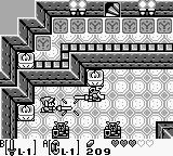 The Legend of Zelda: Link's Awakening Game Boy Inside a castle