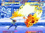 Kabuki Klash Neo Geo Hot stuff: Ziria toasts any opponent in his way using the burning-flaming KoTen!