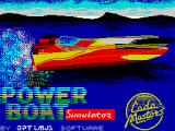 Pro Powerboat Simulator ZX Spectrum Title screen