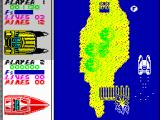 Pro Powerboat Simulator ZX Spectrum The path is splitted with a small island here