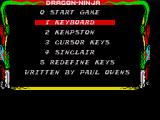 Bad Dudes ZX Spectrum Options