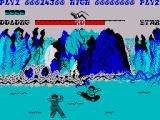 Yie Ar Kung-Fu ZX Spectrum Star will throw shurikens at you so jumping is a good way of avoiding them