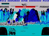 Yie Ar Kung-Fu ZX Spectrum Feedle hides behind the rock sometimes