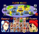 Super Street Fighter II Genesis Player selection: some newcomers had been added for more fighting-action!