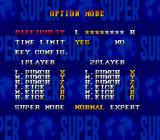 Super Street Fighter II Genesis Options menu.