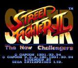 Super Street Fighter II Genesis Title screen.