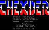 Thexder TRS-80 CoCo Title screen