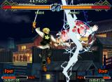The Last Blade 2 Neo Geo Kaede's Shinmei Kuga is a good anti-air move: use it to undo top counter-attacks.