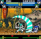 SNK vs. Capcom: The Match of the Millennium Neo Geo Pocket Color Mai's fan isn't only a projectile: use her Sachiyo Dori move to see its other utilities!