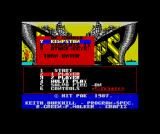 Battleship ZX Spectrum Main menu control selection