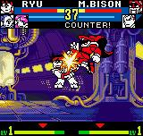 "SNK vs. Capcom: The Match of the Millennium Neo Geo Pocket Color Other tough match are in course: now, M. Bison connects an air ""knee"" kick into Ryu's face."