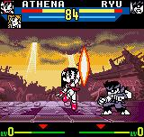 SNK vs. Capcom: The Match of the Millennium Neo Geo Pocket Color Depending of game level, the battle against Evil Ryu also can be tough or not.
