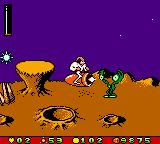 Earthworm Jim: Menace 2 the Galaxy Game Boy Color Helped by a flying-shooting rocket, our hero can kill the enemies easier and faster during some time.