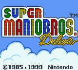 Super Mario Bros. Deluxe Game Boy Color Title screen.