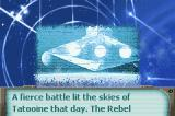 Star Wars Trilogy: Apprentice of the Force Game Boy Advance Introduction frame – the Imperial Star Destroyer begins the pursuit for Rebel Forces.