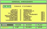 Tracksuit Manager Atari ST Forthcoming fixtures, including an easy game for England