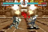 Tekken Advance Game Boy Advance Yoshimitsu's sword attack in Gun Jack was a success: the blood spitted out proves it!