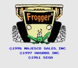 Frogger Genesis Title screen