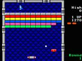 Arkanoid TRS-80 CoCo Gameplay on the first level (Coco 3)