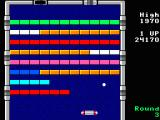 Arkanoid TRS-80 CoCo Those gold bricks can't be destroyed making this level tricky (Coco 3)