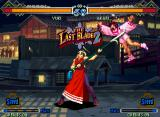 The Last Blade 2 Neo Geo Demonstration mode: the little Akari isn't a lucky fighter... :-P