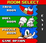 "Sonic The Hedgehog Pocket Adventure Neo Geo Pocket Color Selecting ""GO TO ROOM"", the player can find some varied stuff."