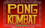 Pong Kombat DOS Title Screen