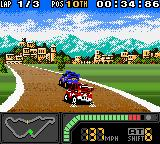 Top Gear Pocket 2 Game Boy Color Wrong time: when you're doing a tight curve, the first challenger appears... :-O