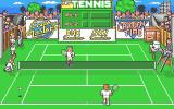 Pro Tennis Simulator Atari ST The ball bounces beyond the opposing player