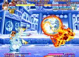 Kabuki Klash Neo Geo With a raging-flaming-rolling move, Shiro avenges the attack suffered for its beloved owner... ;-D