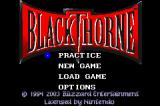 Blackthorne Game Boy Advance Title screen / Main menu.