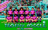 Rick Davis's World Trophy Soccer DOS Title screen #1