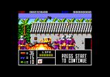 Operation Thunderbolt Amstrad CPC A hostage runs across the screen