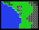 Dragon Warrior II MSX World map, outside of starting town