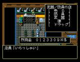 Illusion City - Gen'ei Toshi MSX Buying weapons