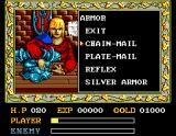 Ys: The Vanished Omens MSX Armor shop