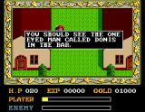Ys: The Vanished Omens MSX Dialogue in the town