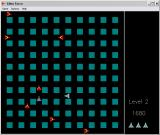 Alien Force Windows 3.x Level 2 of the game... I'm blue, the enemies are red... and that gray one is one I just killed.