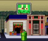 Mario is Missing! SNES Use the pipes scattered in the city to shorten distances and save some time.