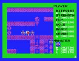 Dragon Slayer MSX The color turns red if you are wounded