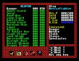Xanadu: Dragon Slayer II MSX Inventory screen