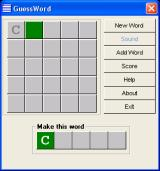 GuessWord Windows The begin of a game