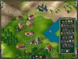 The Settlers II: Veni, Vidi, Vici DOS an ingame shot showing the stock levels