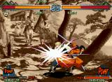 The Last Blade 2 Neo Geo Hibiki in other successful attack: she does her DM Hasshou Suru Shinki Nari with total accuracy!