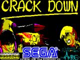 Crack Down ZX Spectrum Loading screen